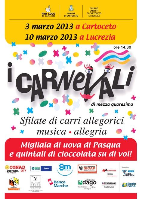 locandina carnevali 2013