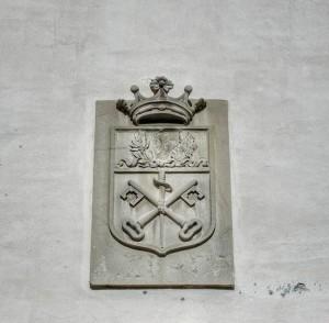 Lo stemma comunale di Cartoceto. Foto di © Andrea Contenti