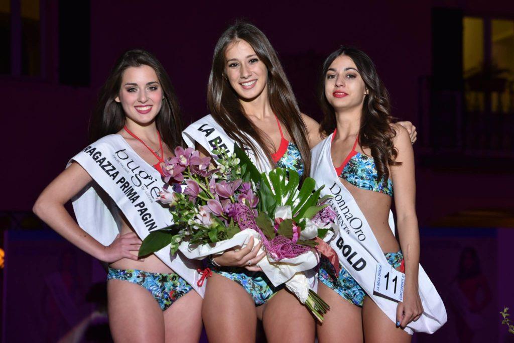 Le tre ragazze vincitrici.