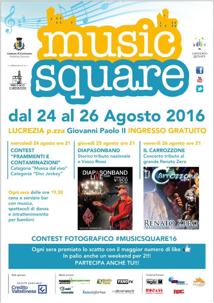Locandina Music Square 2016